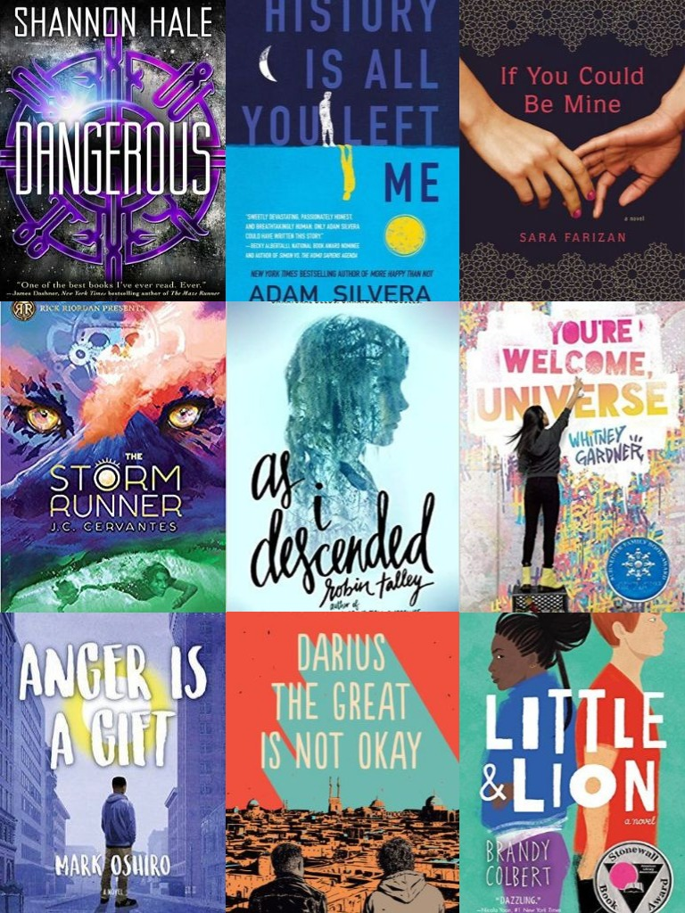 collage - Intersectional YA book covers